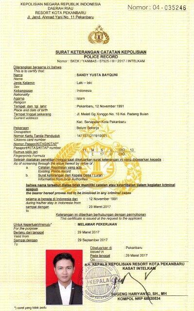 Kerjasama Cepat & Pasti Aman (10 hari & Data lengkap KTP/KK/SKCK/IJAZAH)