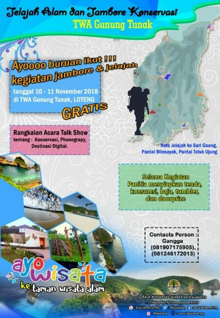 Yuk Ikut, Gratis Jelajah Alam dan Jambore Konservasi di TWA Gunung Tunak Lombok