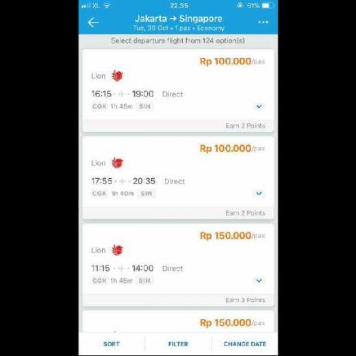 Pasca Jatuh, Lion Air Banting Harga Tiket, Jakarta-Singapura Cuma Rp100-150 Ribu