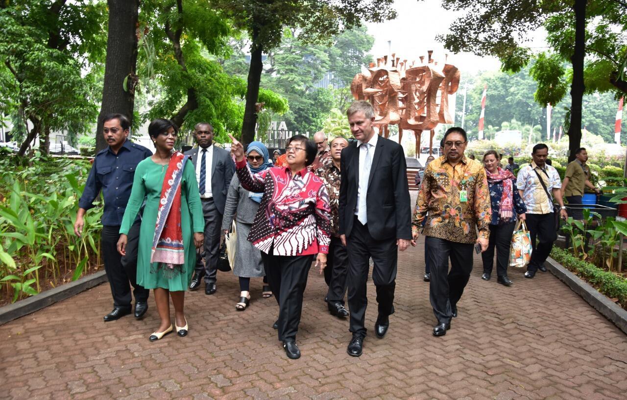 Menteri LHK dan Menteri Lingkungan Republik Kongo Tekankan Pentingnya Media