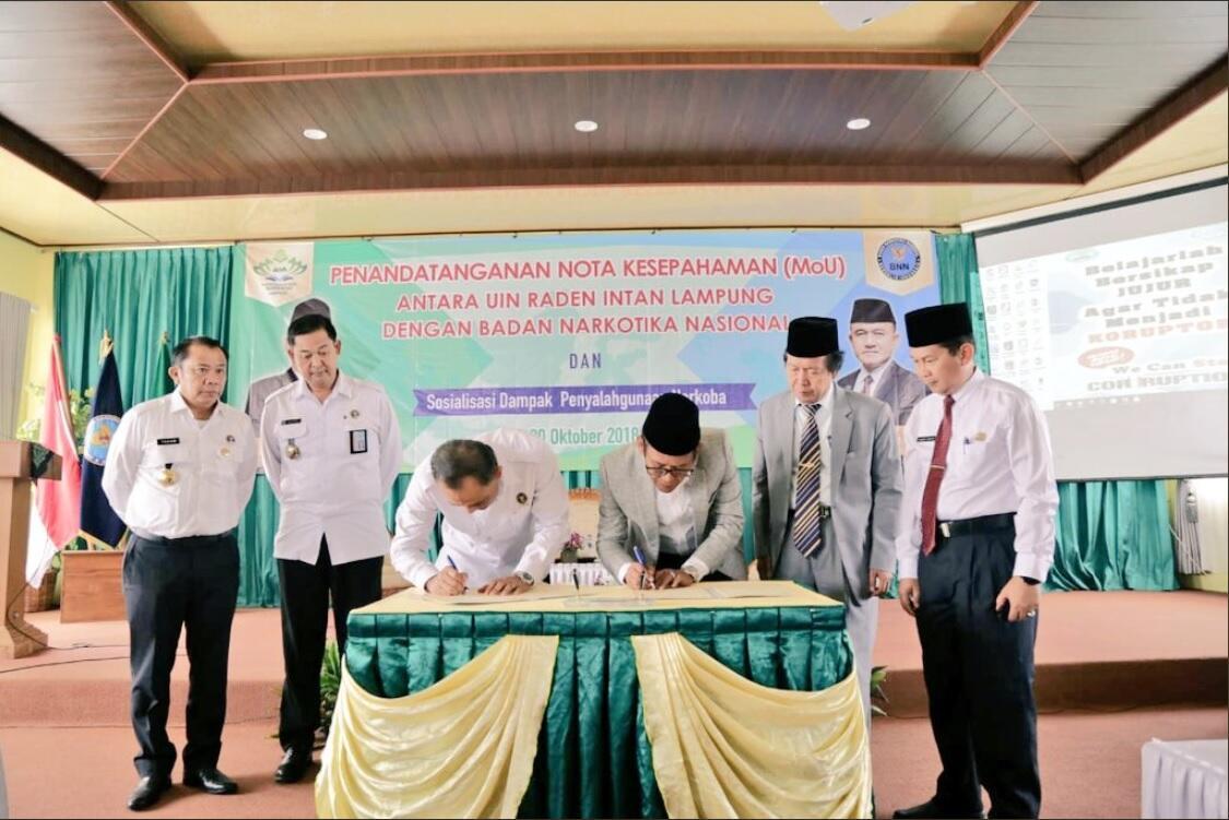BNN-UIN Raden Intan Lampung Bersinergi Lindungi Bonus Demografi