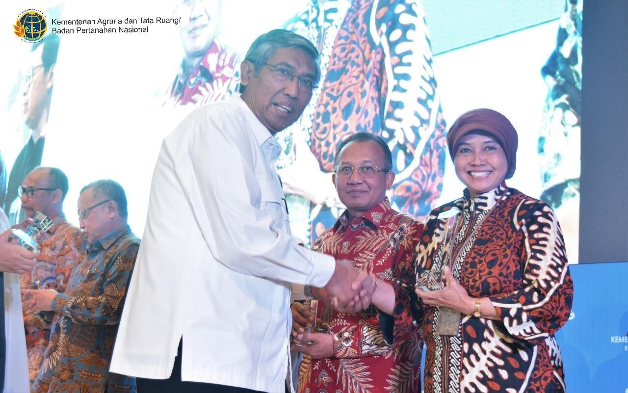 Kementerian ATR/BPN Raih Apresiasi Kolaborasi Anggaran BMN dari Kemenkeu