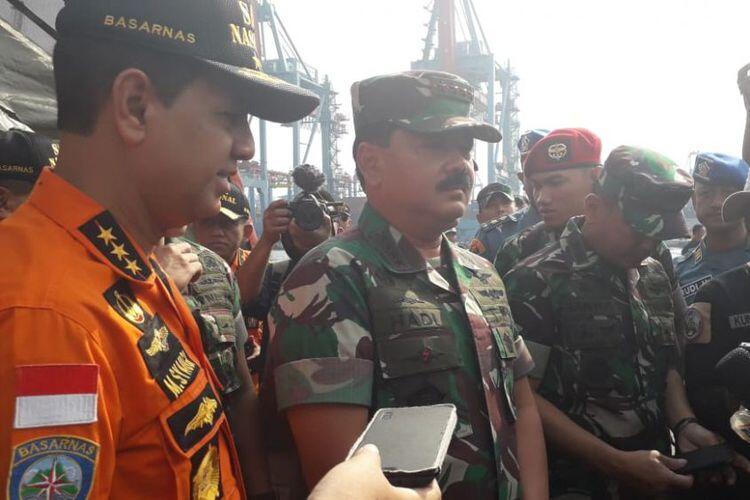 Panglima TNI Sebut Pencarian Badan Lion Air JT 610 Menemui Titik Terang