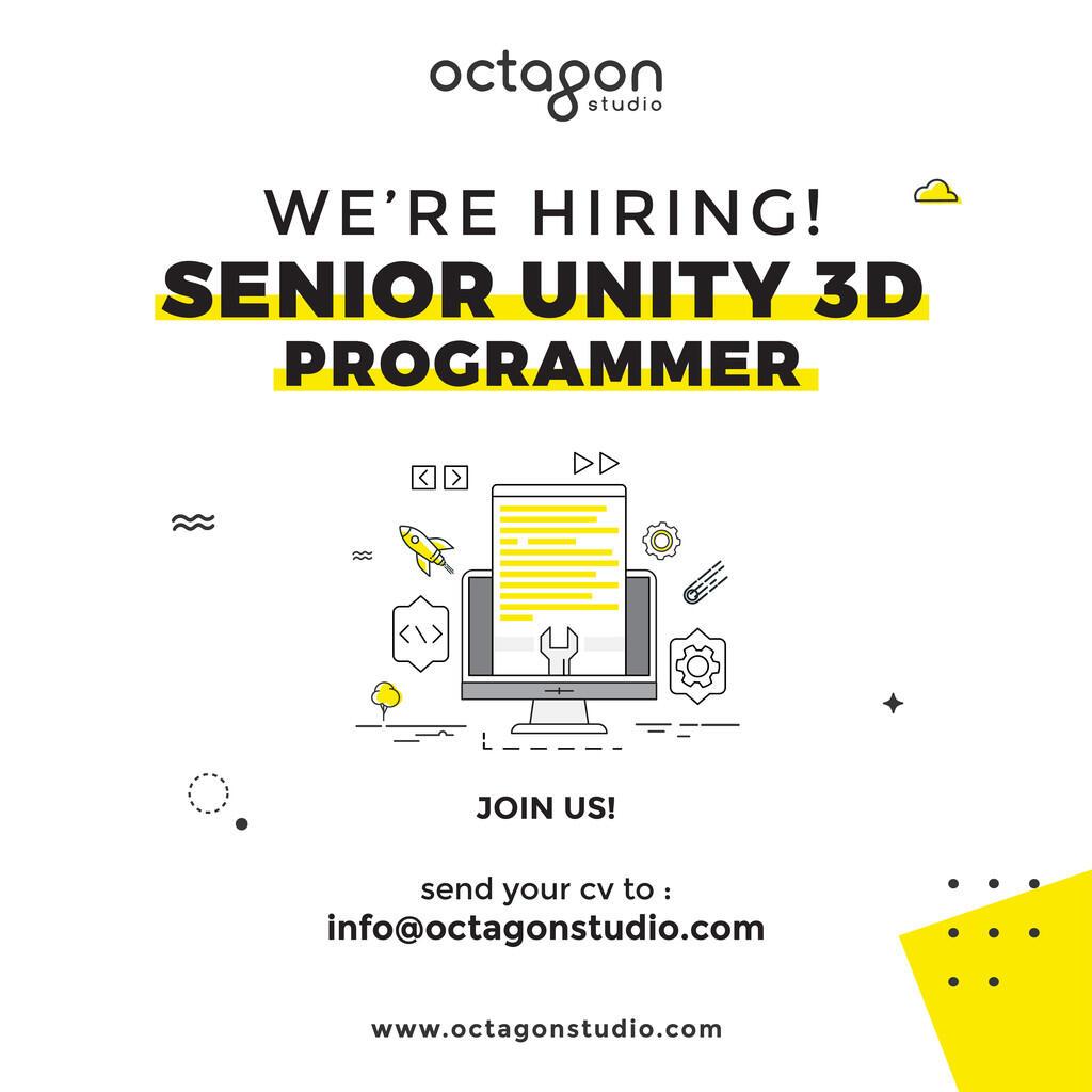 Mencari Senior Unity3D Programmer - Octagon Studio