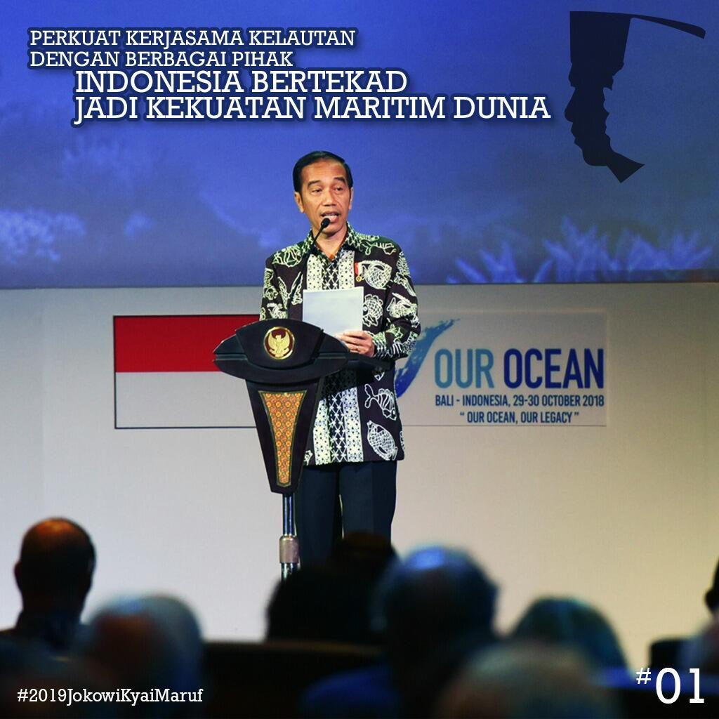 Pesan Jokowi ke Delegasi OOC Lewat Puisi: Jangan Lagi Punggungi Lautmu