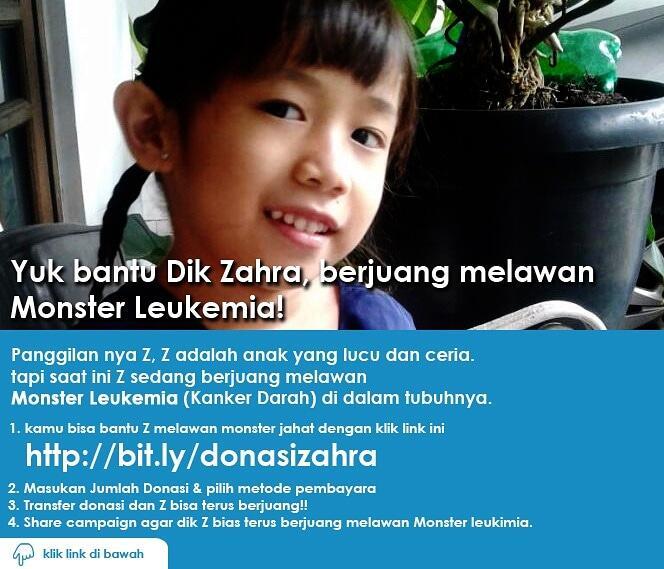 Tolong Bantu share Link Kaka Z melawan Leukemia