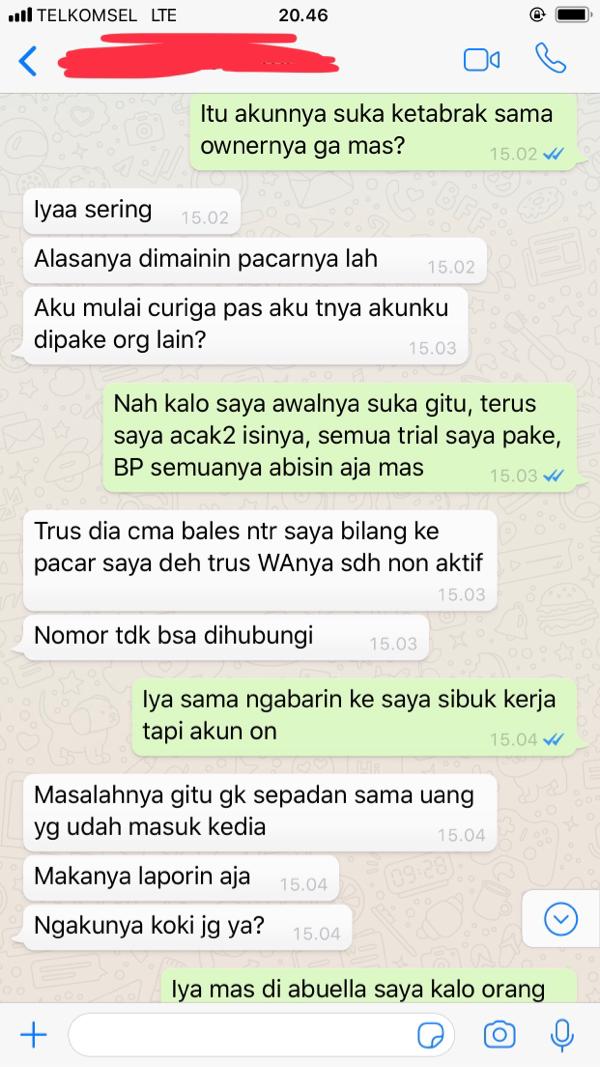 Penipuan Reg. Tangerang (Ada Imbalan)