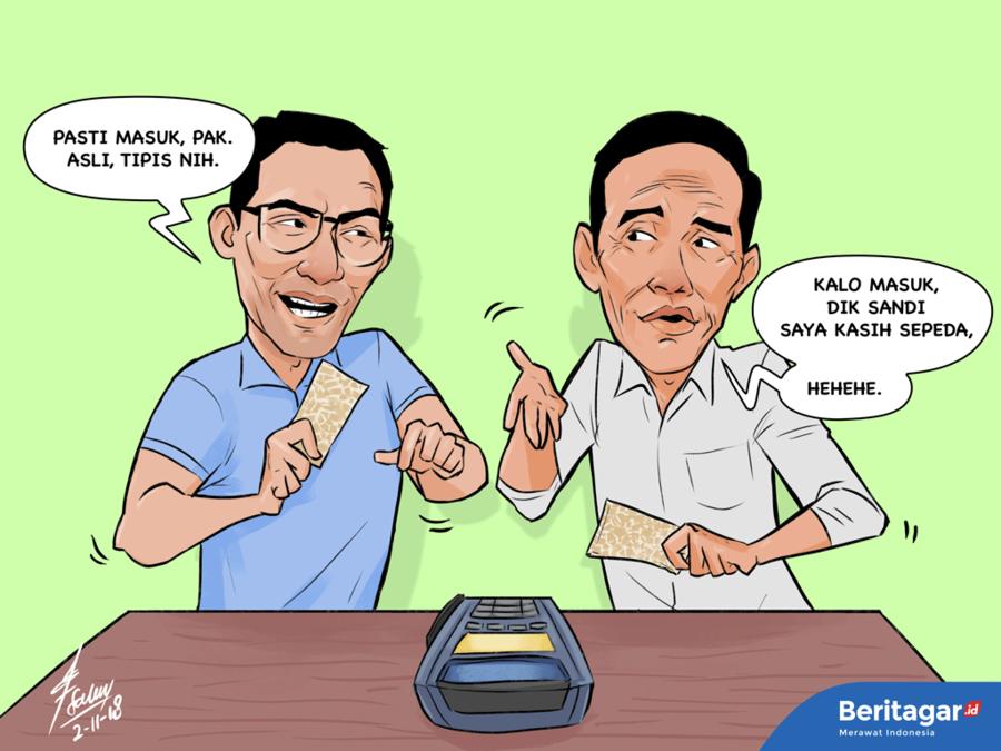 Sandi tantang Jokowi berburu tempe