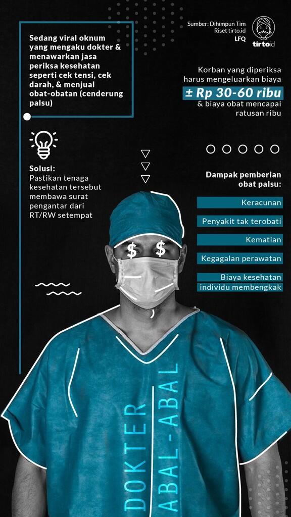 Dokter Gadungan: Ketuk Pintu, Main Dokter-dokteran, Minta Bayaran