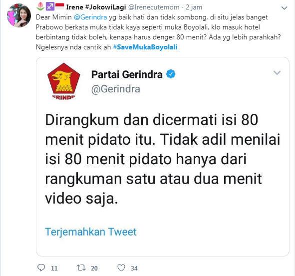 Prabowo Berpidato soal Tampang, #SaveMukaBoyolali Trending
