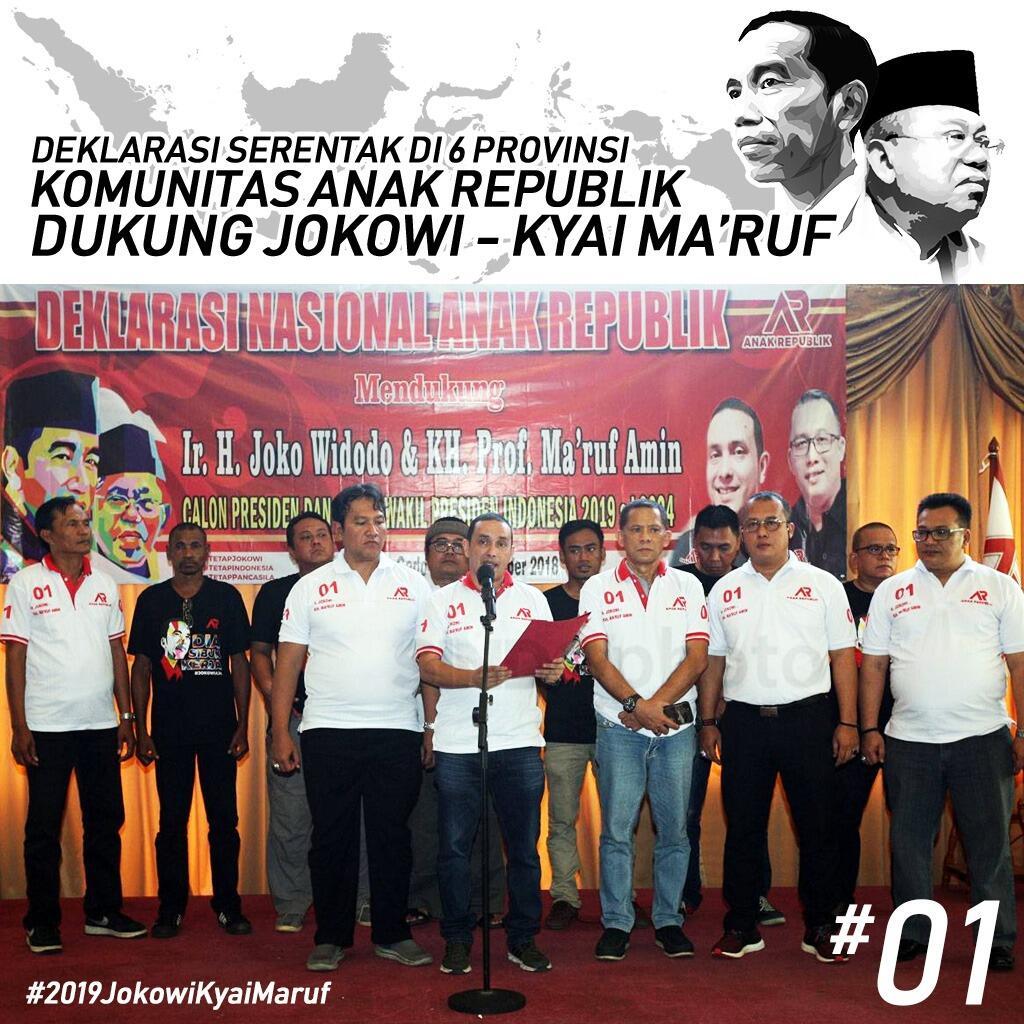 Komunitas AR Deklarasi Dukung Jokowi di Enam Provinsi