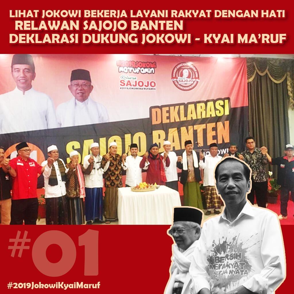 Sosok Ma'ruf Amin Buat Dukungan Warga Banten ke Jokowi Makin Masif