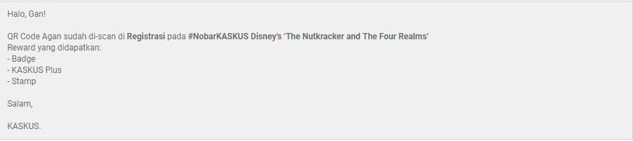 """Nobar """"Disney's The Nutcracker and The Four Realms"""" di KASKUS Movie Night Out"""