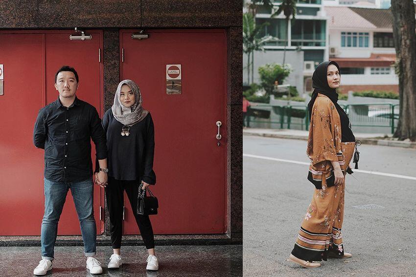 Hamil Bareng, Ini Gaya Liburan Duo Hijab Dwi dan Nabila di Singapura
