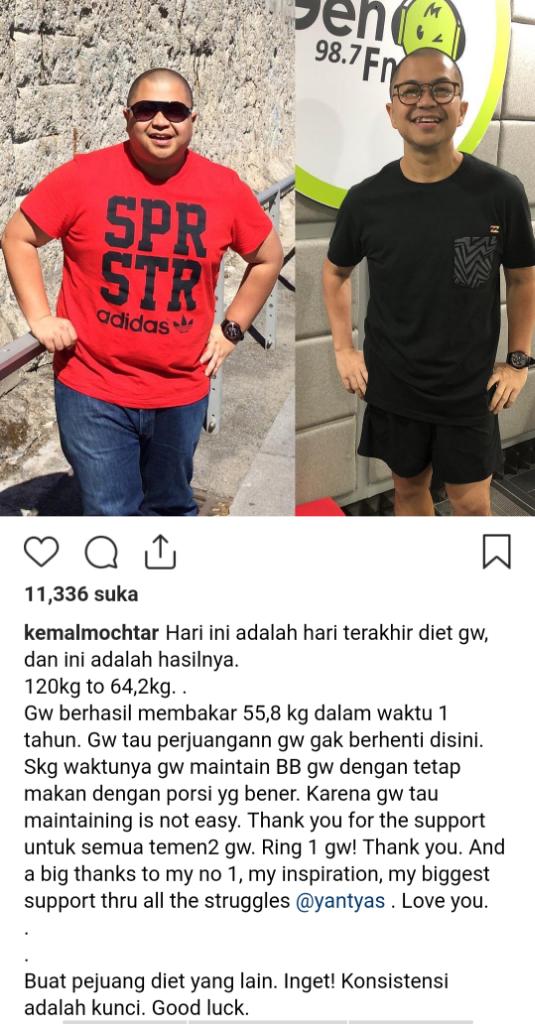 [Kemal] Turun Berat Badan 55Kg Dalam Setahun? Simak Kiatnya Dimari!