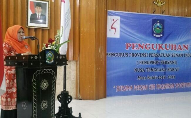 Pimpin Persani, Baiq Diyah Komit Tingkatkan Kualitas Atlit Senam NTB
