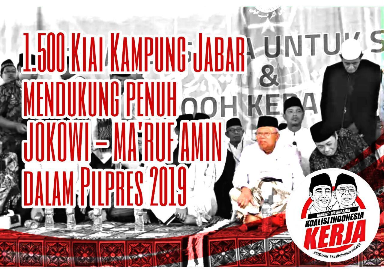 Dukungan Sejumlah Kiai dari Berbagai Daerah untuk Jokowi dan KH. Ma'ruf Amin
