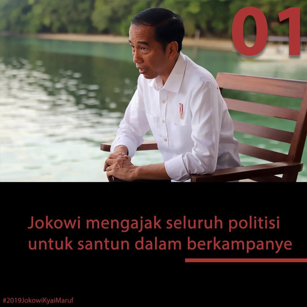 Jokowi: Kampanye dengan Sopan Santun Tak Usah Jelekkan yang Lain