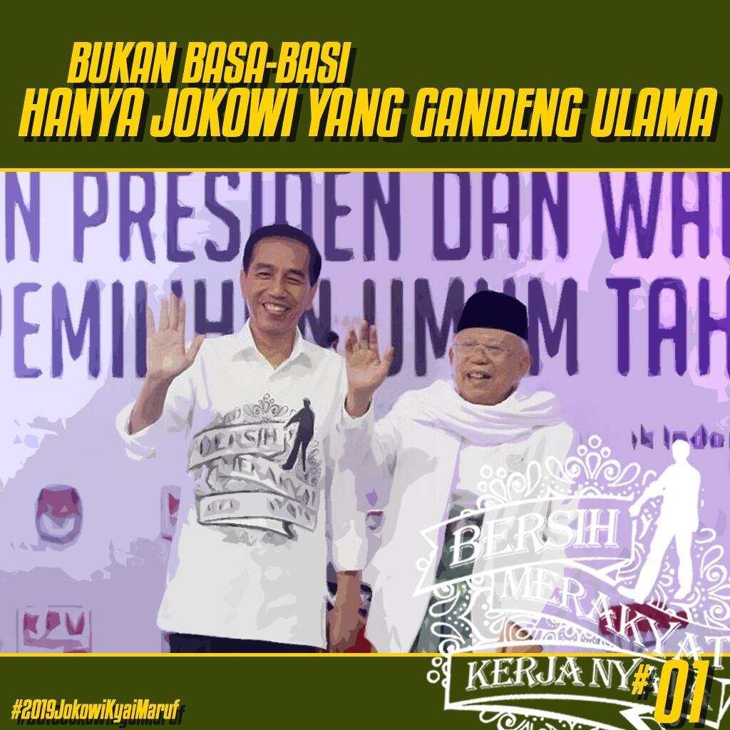 Yakinkan pemilih, Ma'ruf Amin tegaskan hanya Jokowi yang rangkul ulama