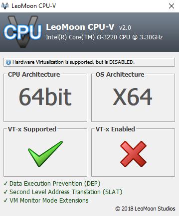 VT-X di BIOS sudah nyala tapi pas di check belum padahal disetting ada pilihannya