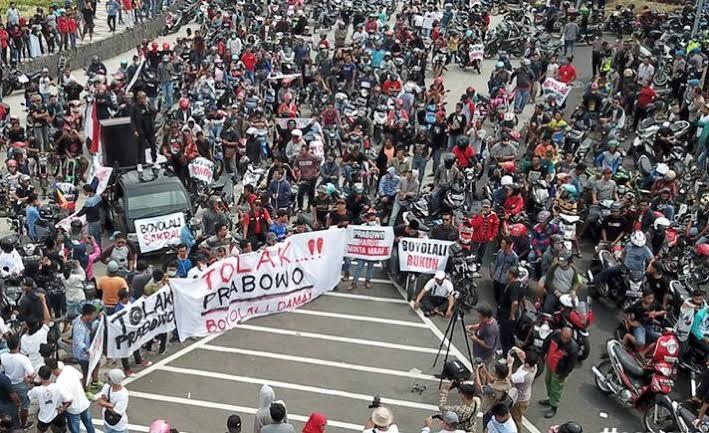 Buntut Pidato Prabowo, Belasan Ribu Warga Boyolali Gelar Aksi