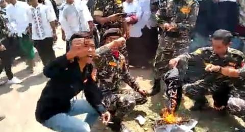 Pembakar Bendera Tauhid Divonis 10 Hari Penjara