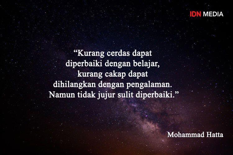 10 Quotes Inspiratif Mohammad Hatta yang Patut Diteladani Millennials