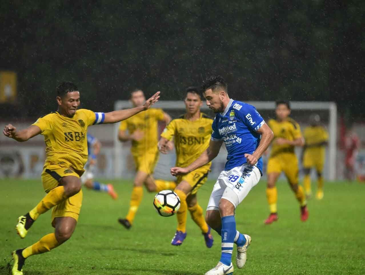 Rekor Kandang Bhayangkara FC Terhenti di Tangan Persib