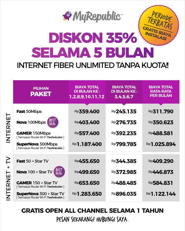 Myrepublic internet unlimited office & home