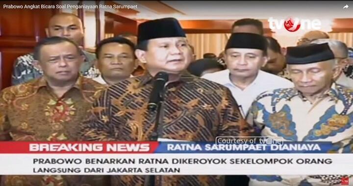 Aduan Pose 1 Jari Luhut-Sri Mulyani Disetop, Tim Prabowo Speechless