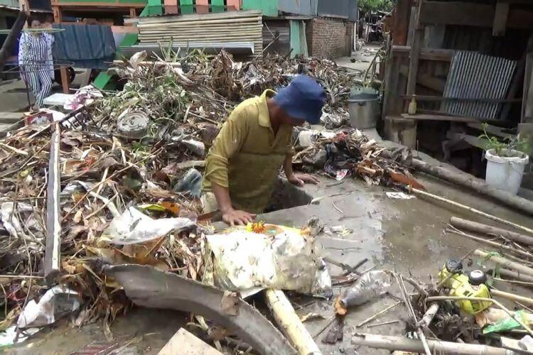 Diguyur Hujan 3 Jam, Banjir di Parepare Tinggalkan Tumpukan Sampah hingga 1 Meter