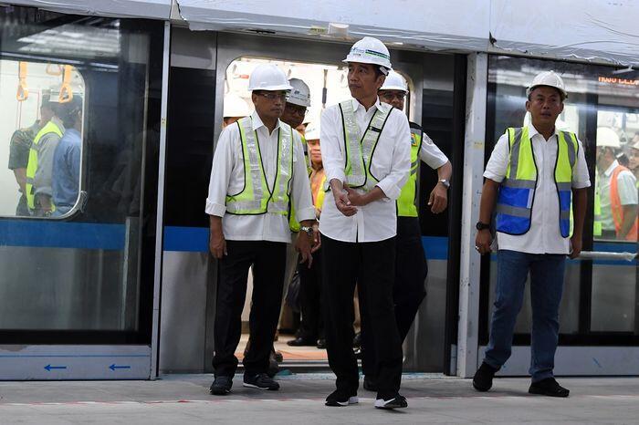 Tarif MRT Jakarta versi Jokowi tak lebih dari Rp10.000