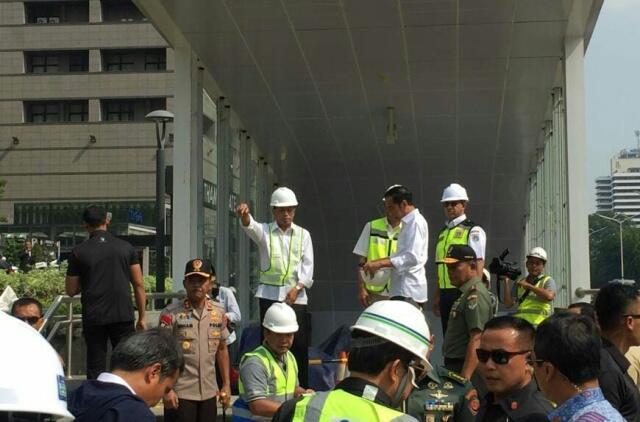 Jokowi Tengok Pembangunan MRT
