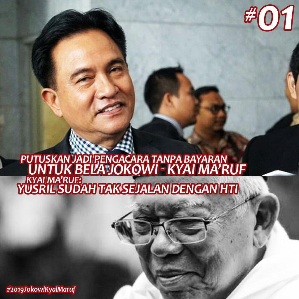Yusril: Kalau Jokowi-Ma'ruf Dihujat dan Dicaci, Saya Bela