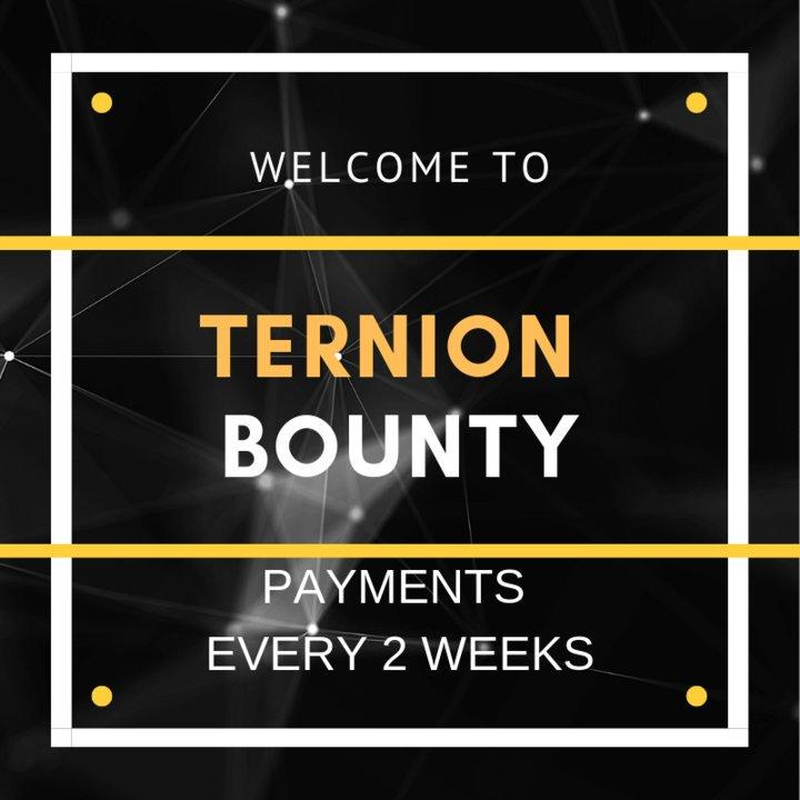 Ternion Bounty | PAYMENTS EVERY 2 WEEKS