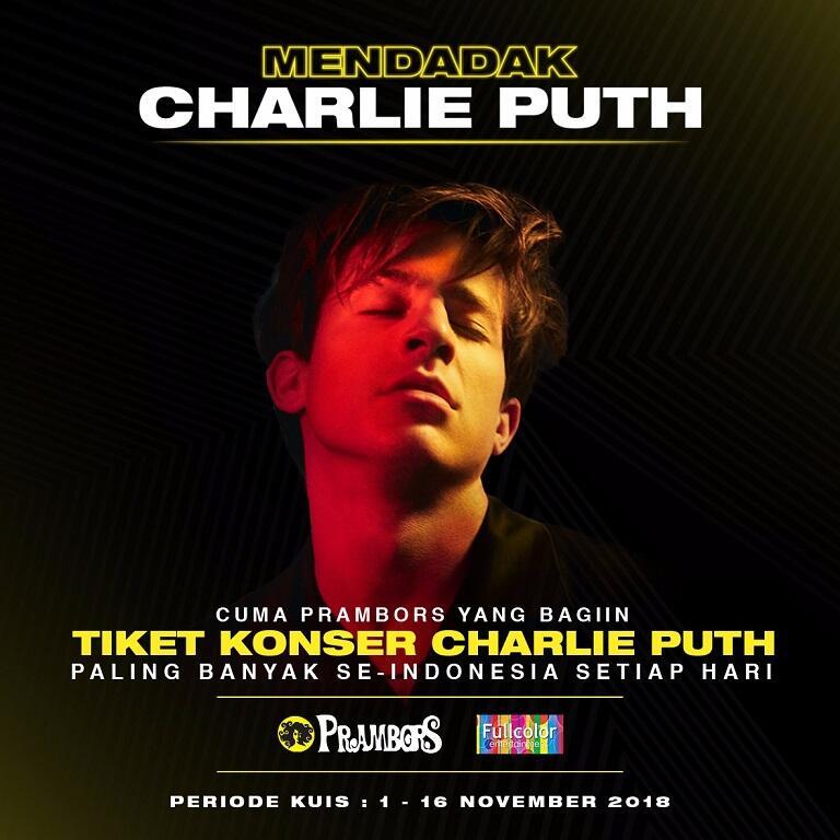 Pengen ke Konser Charlie Puth? Prambors Punya Ratusan Tiket Gratis Untuk Kalian!