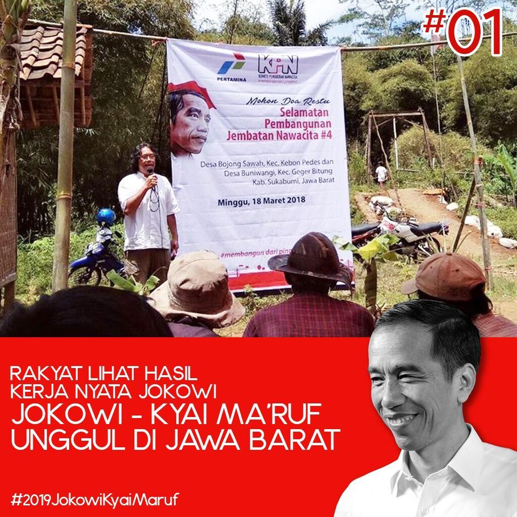 Kubu 01 Unggul Di Jabar, Kiai Ma'ruf: Itu berkat Pak Jokowi dan Ulama