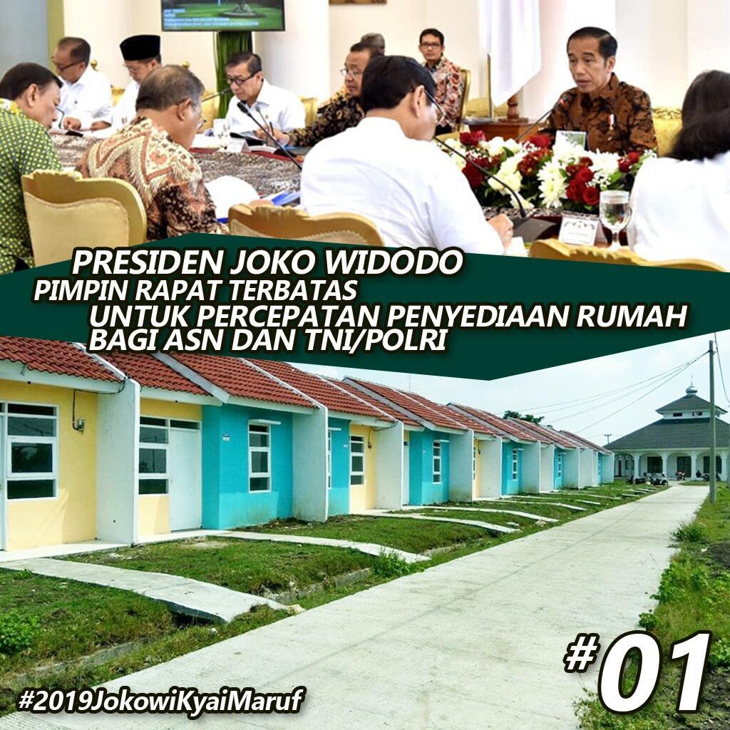 Jokowi tegaskan pemerintah fokus bangun rumah untuk ASN, Polri dan TNI