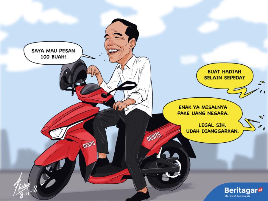 Sepeda motor listrik Jokowi