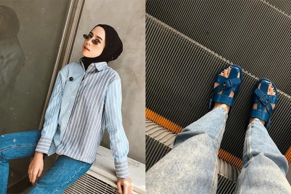 Tips Mix and Match Outfit Chic ala Influencer Hijab, Amelia Elle