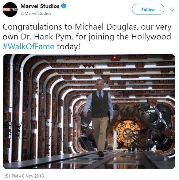Michael Douglas Bintang Terbesar di MCU