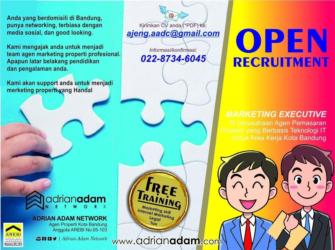 Loker MARKETING EXECUTIVE, Cv Adrian Adam Network Bandung