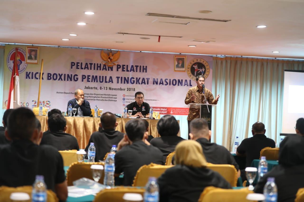 Kembangkan Olahraga Kick Boxing, Kemenpora Gelar Pelatihan Pelatih Nasional