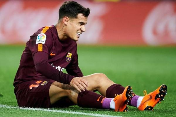 Alami Cedera Paha, Coutinho Menepi Selama Tiga Pekan
