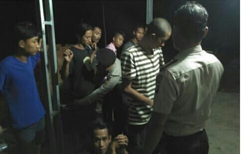 Pesta Miras, Belasan Pemuda di Amankan Polisi