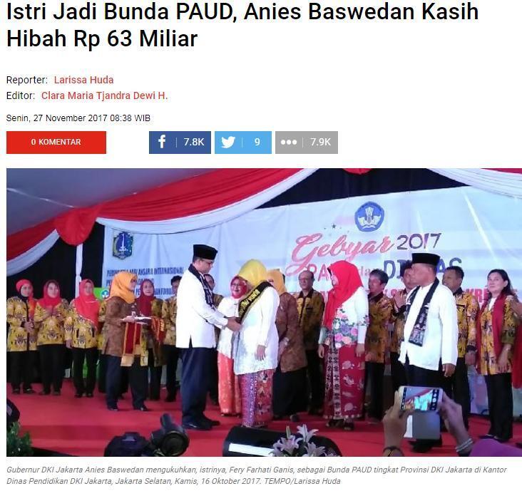 Peringati Hari Pahlawan, Gubernur DKI Ingatkan Anak Buahnya Tak Gerogoti Anggaran