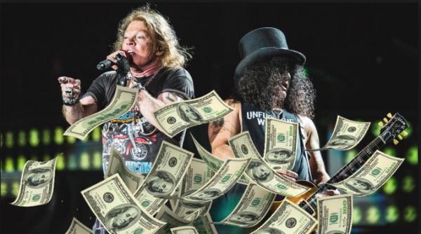 Bayang-bayangIzzy Stradlin di Konser Reuni Guns N' Roses