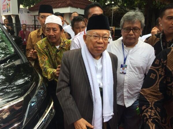 Rizieq Shihab Anggap Jokowi Pencitraan, Ini Jawaban Ma'ruf Amin