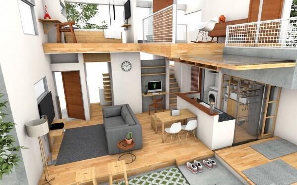 Desain Hunian Terbaik dengan LB 45m Untuk Pasutri, Mirip Rumah Jepang!