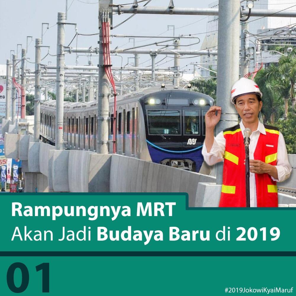 MRT Jakarta Beroperasi 2019, Jokowi: Kita Sedang Membangun Budaya Baru